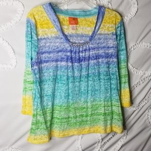 Lightweight Multicolored Colored Top
